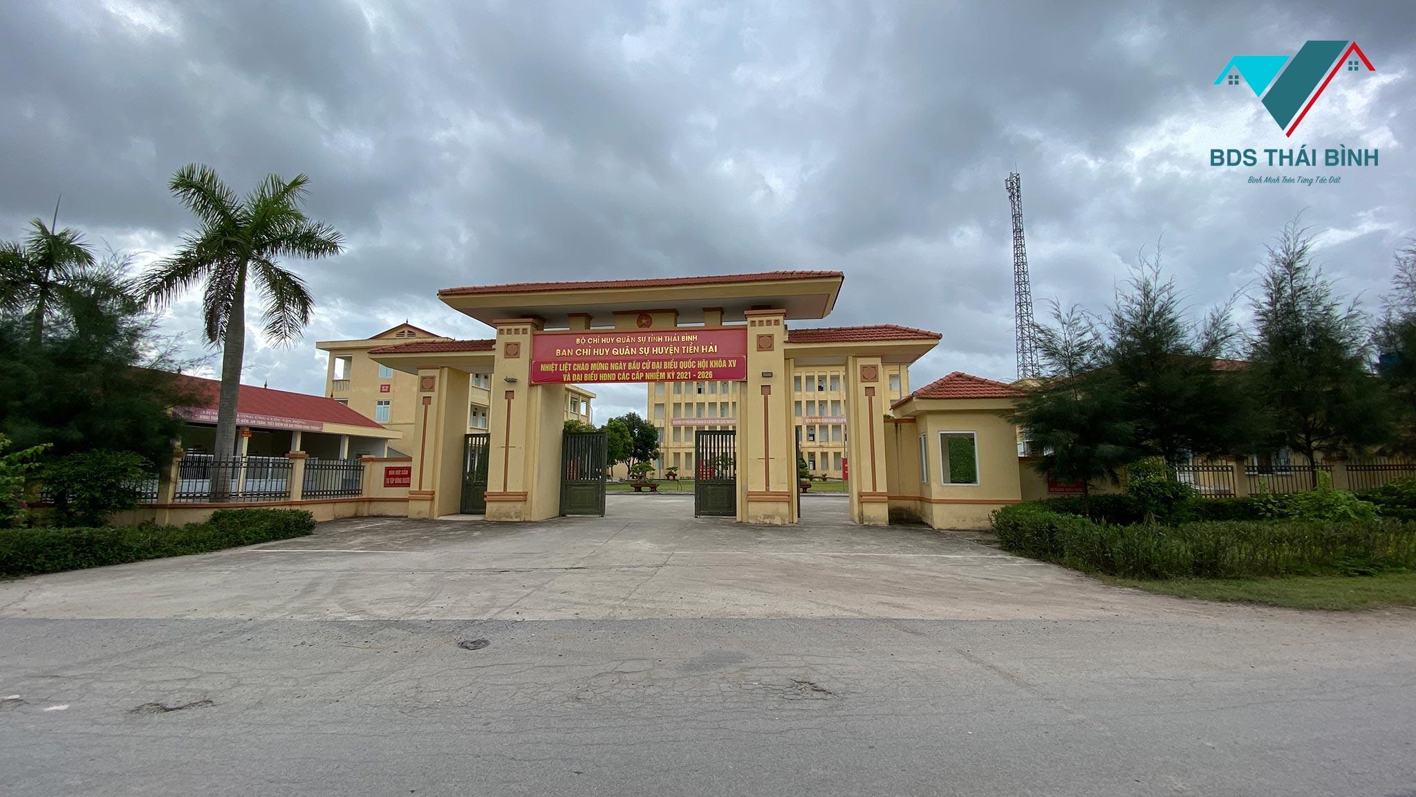 Ban Chỉ Huy Quân Sự Huyện Tiền Hải ngay trước cửa ngõ Tiền Hải Center City
