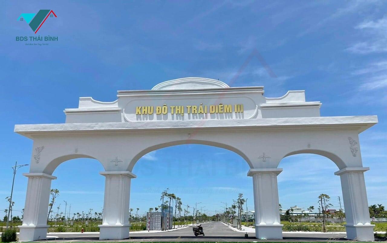 Cổng chào Khu đô thị Trái Diêm 3 - Tiền Hải Center City