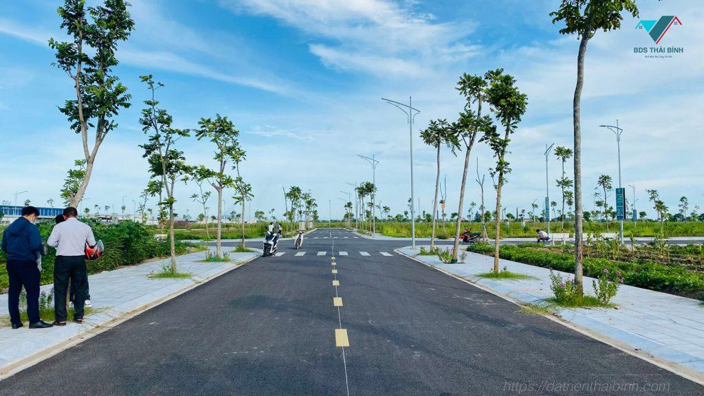 Đường nội khu dự án Trái Diêm 3 tháng 09-2021
