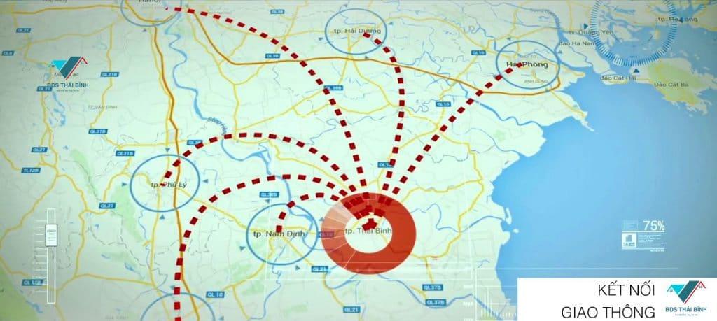 Kết nối giao thông Thái Bình Dragon City Kỳ Đồng