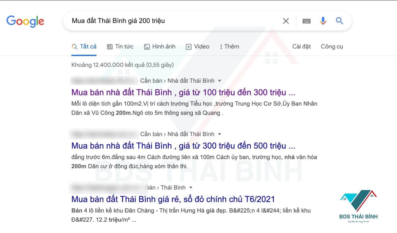Khảo sát mua đất Thái Bình giá 200 triệu