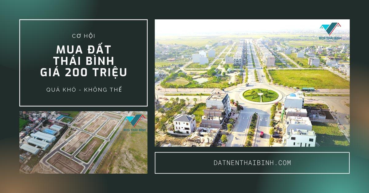 Cơ hội Mua đất Thái Bình giá 200 triệu