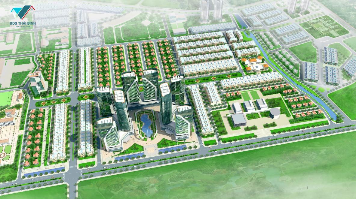 Phối cảnh dự án Eco Green City TP Thái Bình