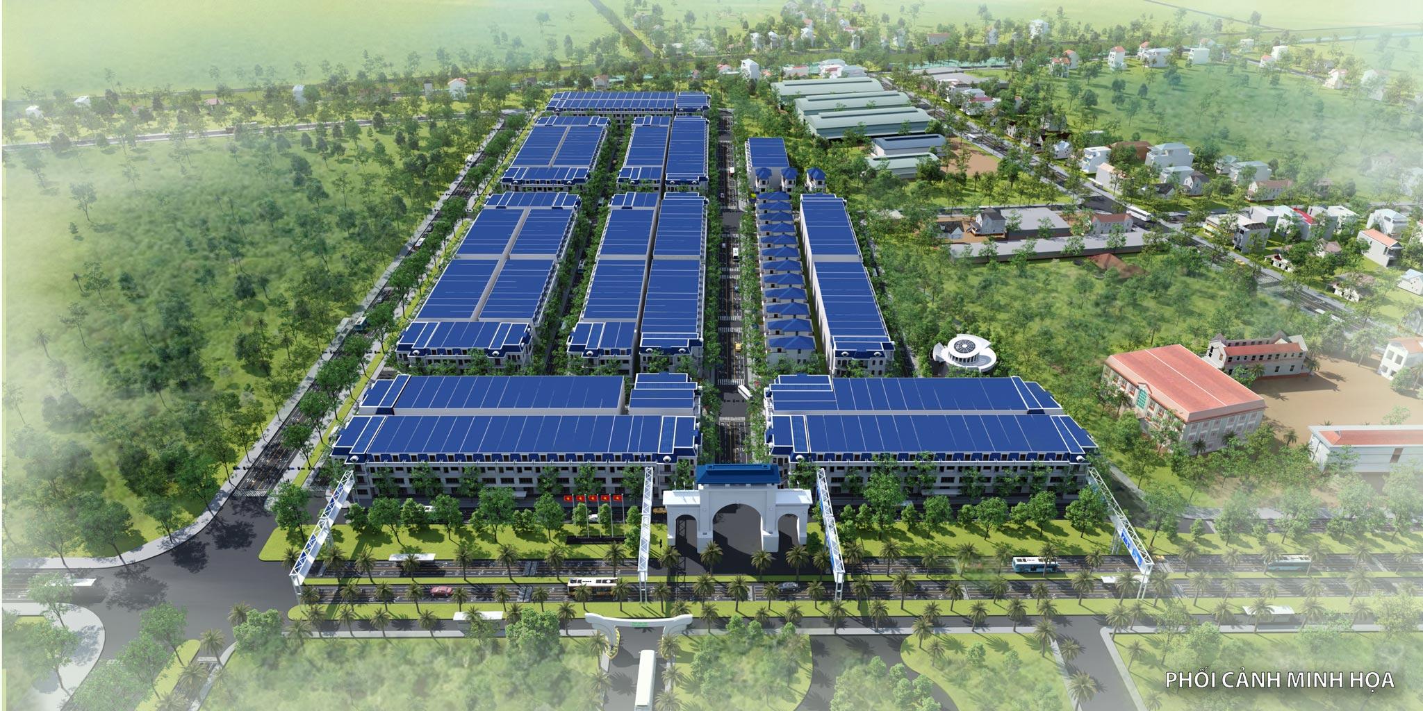 Phối cảnh tổng thể dự án Tiền Hải Center City – Trái Diêm 3 Thái Bình
