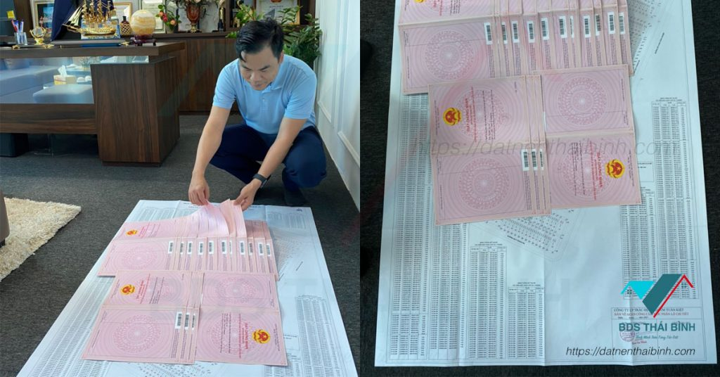 Sổ đỏ 346 lô đất nền dự án Trái Diêm 3