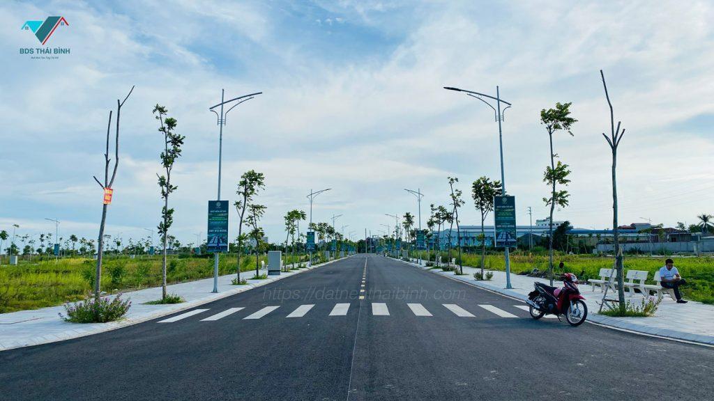 Trục đường chính 18m dự án Trái Diêm 3