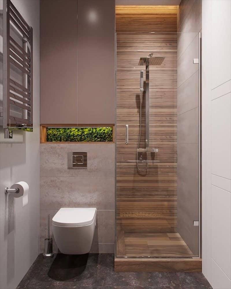 Vòi sen phù hợp với phòng tắm nhỏ