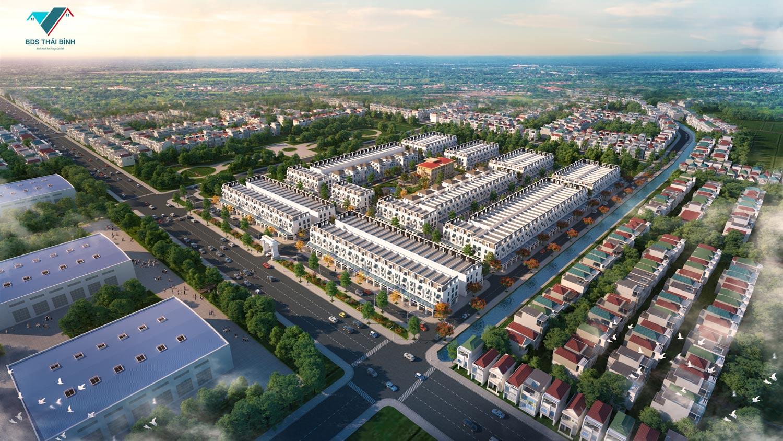 Phối cảnh dự án đất nền Bắc Đồng Đầm - Tiền Hải Star City Thái Bình