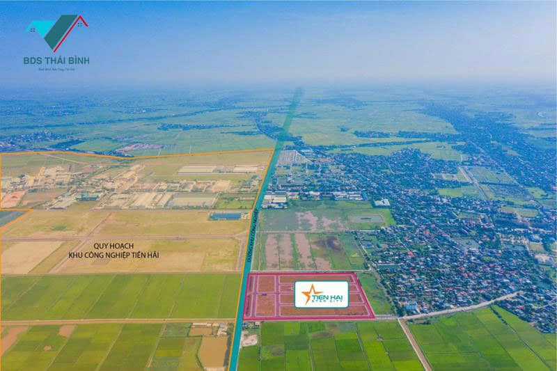 Vị trí đất nền Bắc Đồng Đầm - Tiền Hải Star City