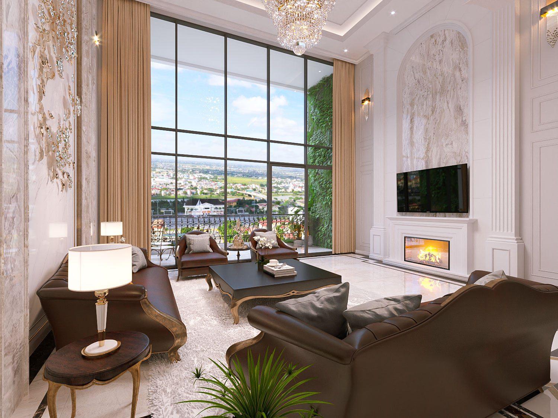 Mẫu phòng khách căn hộ Duplex Eden Garden Thái Bình