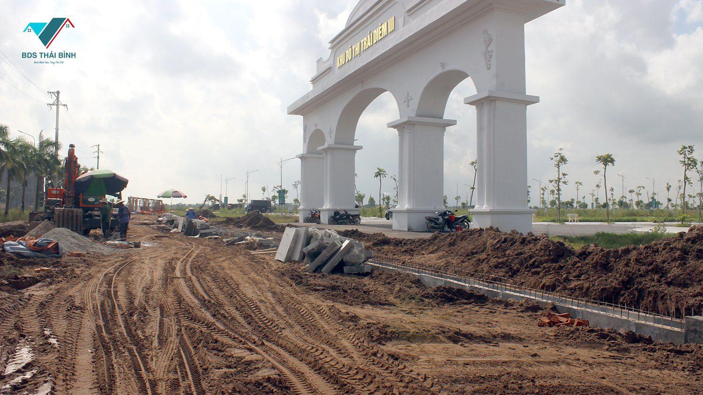 Thực tế thi công đường 221A Tiền Hải qua dự án Trái Diêm 3